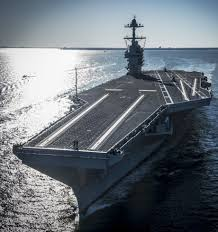 largest naval ship aircraft carrier in the world commission us