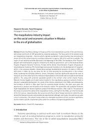 the maquiladora industry impact on the social and economic
