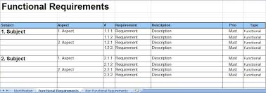 Requirements Template Excel A2build