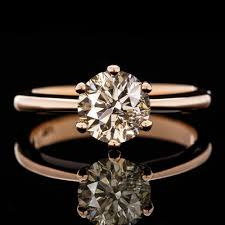 natural engagement rings images 1 15c fancy champagne natural diamond solitaire engagement ring ?1523
