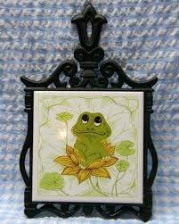 green frog bassinet charming frog hanging trivet w fancy iron