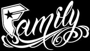 straps family sticker decal gangster socal