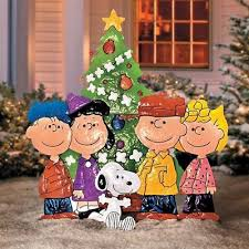 peanuts brown christmas tree peanuts christmas lawn sign outdoor brown around