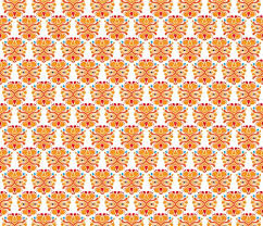 sports wrapping paper hup lion orange sports theme pattern fabric