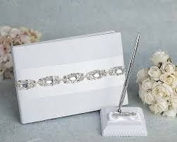 guest book and pen set glam wedding guestbook and pen set wedding collectibles