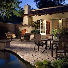Outdoor Patio Design Exterior Glamorous Outdoor Patio Design With Vintage Fireplace