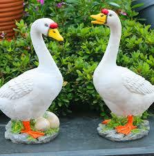 courtyard garden ornaments resin crafts avian bird duck villa