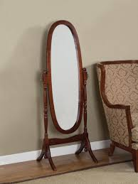 mirror unusual oval shaped free standing mirror tremendous