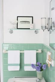 bathroom cabinets vintage green tile bathroom vintage style