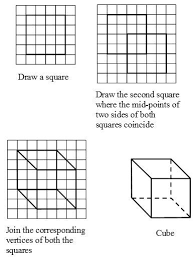 how to draw solids on a flat surface