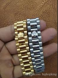 links style bracelet images Watch band link chain 15mm stainless steel golden crown president jpg