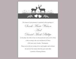 wedding invitations gauteng diy wedding invitation template editable word file instant