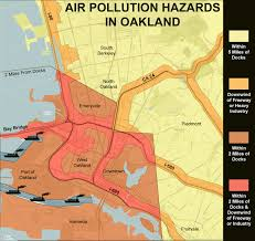 Berkeley Map It U0027s A Co Op Berkeley Oakland Port And Highway Air Pollution Map