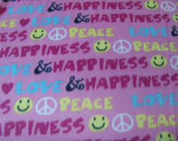 Girls Peace Sign Bedding by Peace Sign Bedding Etsy