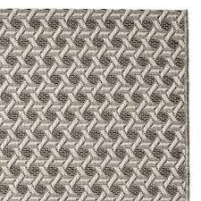 Grey Outdoor Rug Faux Natural Textural Cane Indoor Outdoor Rug Gray Williams Sonoma