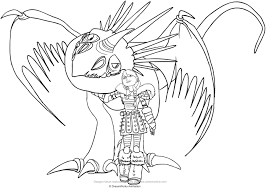 astrid and stormfly the dragon coloring pages