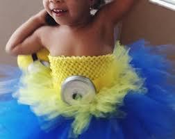 Girls Minion Halloween Costume Minion Tutu Dress Etsy