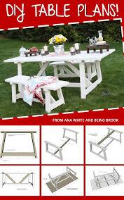 43 best picnic tables images on pinterest picnics outdoor ideas