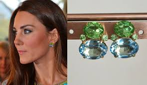 earrings kate middleton kate middleton peridot aquamarine earrings by tudorshoppe on etsy