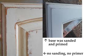 painting old wooden door oak kitchen cabinet using chalk with
