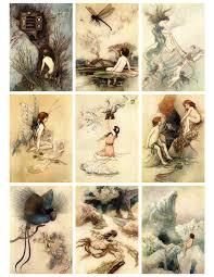 jodie lee designs free printable antique fairy cards