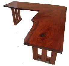 best corner desk rustic l shape teak wood computer desk in plain cherry finish with
