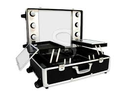 makeup luggage with lights aa03 trolley lighted makeup case