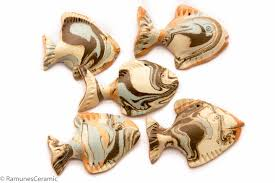 Fish Home Decor 5p Fish Ceramic 3d Wall Art Sculpture Beach Nautical Ocean