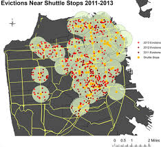 san francisco eviction map tech stops and no fault evictions anti eviction mapping project