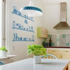 decor mural cuisine cuisines deco mur cuisine bleu blanc déco mur cuisine idées pour