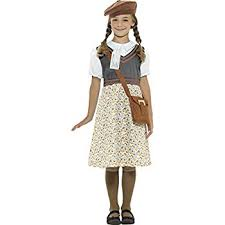 smiffy u0027s world war ii evacuee costume dress hat and bag