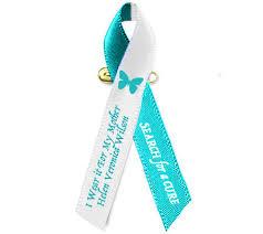 teal ribbon cancer awareness ribbons memorial funeral ribbon
