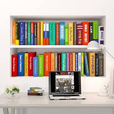 u0026 creative bookcase bookshelf wall stickers kids room nursery