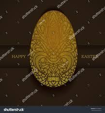 banner golden ornamental egg decorative illustration stock vector