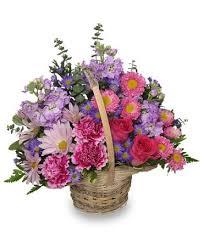 bellevue florist sweetly basket flower arrangement in hattiesburg ms