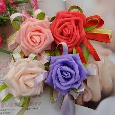prom corsage prices new wedding decoraitve boutonniere wrist flower prom