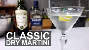 martini gin classic dry gin martini cocktail recipe youtube