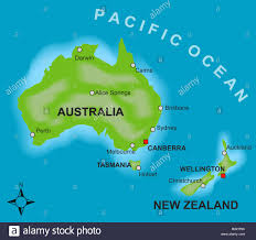 auckland australia map a stylized map showing the countries of australia and new zealand