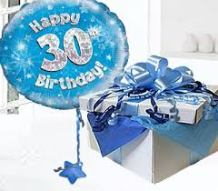 birthday balloons in a box happy 30th birthday balloon in a box blue code jgf30bh30bbb 30
