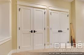 custom interior double doors 2 flat panel white painted custom