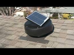 solar powered attic fan attic ventilation fan youtube