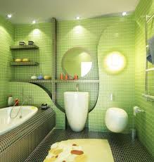 bathroom beautiful small bathroom design with green floral wall
