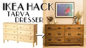 diy ikea hack tarva dresser youtube
