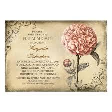 vintage bridal shower invitations vintage pink peony rustic bridal shower invitation zazzle