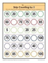 skip counting worksheets by 5