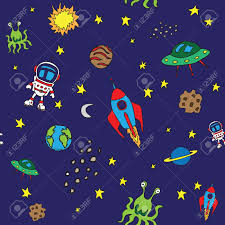 seamless outer space pattern royalty free cliparts vectors and