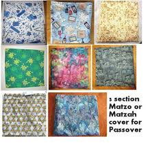 passover matzah cover matzoh holder with three sections for a beautiful seder table