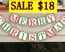 merry christmas banner merry christmas banner etsy