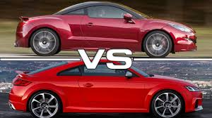 peugeot rcz r 2016 peugeot rcz r vs audi tt rs youtube