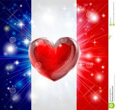 Ou Flag Love France Flag Heart Background Stock Vector Image 28673779